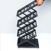a4折疊便攜資料架落地展會展示架落地樣本雜志報刊架目錄單頁架 限時85折