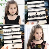 女童項鏈配飾兒童鎖骨鏈項圈首飾掛脖飾品【聚可愛】