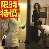 洋裝-長袖優雅亮麗氣質韓版連身裙61a81【巴黎精品】