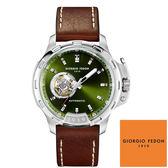 GIORGIO FEDON 1919 沛納海型 綠色面咖啡皮帶機械錶 GFBG014 45mm 公司貨 | 名人鐘錶高雄門市