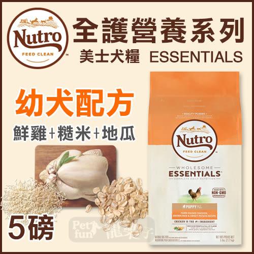 [寵樂子]《Nutro美士》全護營養系列-幼犬配方(雞肉+糙米地瓜)-5LB / 狗飼料