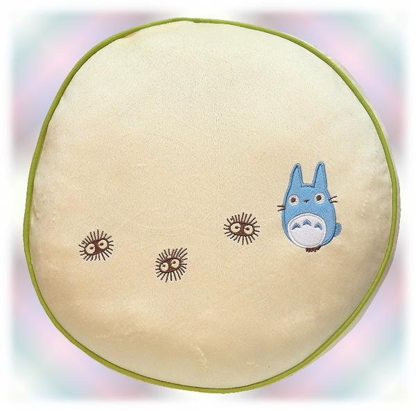 【波克貓哈日網】龍貓豆豆龍◇圓形細絨抱枕◇《大龍貓+香菇》