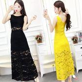 八八折促銷-無袖洋裝性感修身包臀裙V領收腰顯瘦素面背心長裙夏季新品氣質連身裙