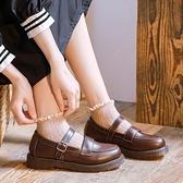 2020夏季小皮鞋女學生學院風jk制服鞋一字扣軟妹日系復古瑪麗珍鞋 「99購物節」