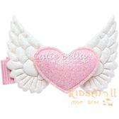 Cutie Bella天使愛心全包布手工髮夾-Heart Angel-Pinky
