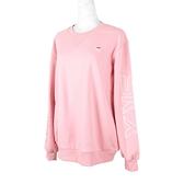 Skechers Logo Crew [L420W057-001T] 女 長袖 上衣 刷毛 保暖 束口 粉紅