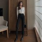 直筒褲 高腰白色牛仔褲女直筒寬松早秋季年新款流行顯瘦九分褲女裝潮 交換禮物