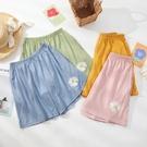 網紅雛菊睡褲女士夏季薄款純棉短褲寬鬆大碼外穿單件家居褲沙灘褲 小山好物