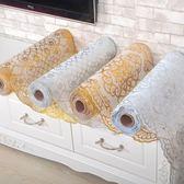燙金PVC電視櫃墊桌布免洗防燙茶几墊台布長方形盤墊歐式