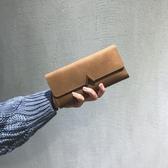 錢包2017新款女韓版潮個性長款小清新多功能搭扣日韓複古薄零錢包