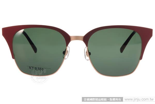 STEALER 太陽眼鏡 DARK NIGHT C12 (紅-金) 韓系時尚半框款 # 金橘眼鏡