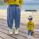 兒童褲子男童防蚊褲薄款夏季寬鬆男寶寶牛仔褲潮小童夏裝休閒長褲 一米陽光