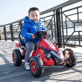 兒童電動車 四輪卡丁車遙控玩具電動汽車可坐男女寶寶充氣輪沙灘車T 3色