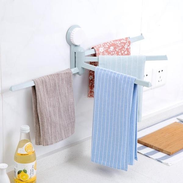 [超豐國際]無痕吸盤式毛巾架廚房抹布掛架 衛生間免打孔毛巾桿毛巾