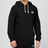 Adidas Originals HOODIE 男款 黑色 三葉草 立體浮雕LOGO 連帽 長袖 上衣 DN8045
