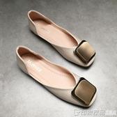 平底單鞋女2020春款淺口軟底百搭新款一腳蹬懶人韓版豆豆鞋奶奶鞋 印象家品