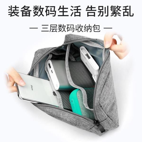 耳機收納包便攜旅行袋數據線收納盒小米充電寶充電器鍵盤盒子 「店長推薦」