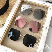 眼鏡  2019新款韓版網紅同款方框墨鏡女復古方形太陽眼鏡街拍素顏圓臉潮