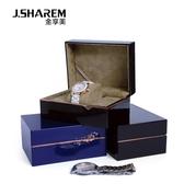 時尚烤漆手表盒高檔整理盒展示盒包裝禮品盒子單個表盒收納盒【快速出貨】