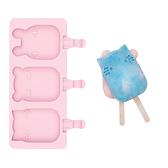 澳洲We Might Be Tiny 矽膠動物冰棒盒-粉紅