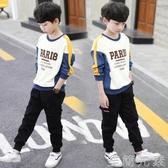 男童衛衣春秋季裝長袖t恤兒童上衣打底衫新款中大童小男孩潮 至簡元素
