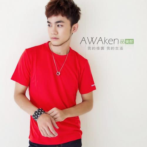 CoolMax 吸濕排汗衣 真機能吸排 型男紅色T 涼感舒適新體驗