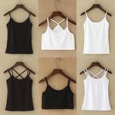 小吊帶背心女夏性感棉質短款打底外穿內搭顯瘦百搭黑色白色吊帶衫