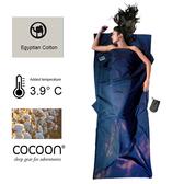 奧地利 COCOON|舒適乾淨 埃及棉睡袋內袋 / 旅用床單-深藍