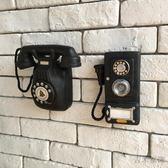 美式鄉村歐式復古做舊咖啡館酒吧店鋪牆面裝飾電話機壁掛壁飾掛飾【閒居閣】