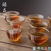 石塚硝子純手工玻璃杯茶杯杯子描金錘紋水杯酒杯日式透明【千尋之旅】