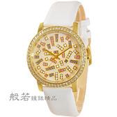 NATURALLY JOJO 絕對晶鑽時尚腕錶-白金閃亮