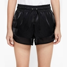 Nike Air 女款 黑 光澤 絲質 休閒 運動 短褲 CU5521-010