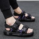 男士涼鞋2021夏季新款青年潮流兩用涼拖鞋ins開車拖鞋厚底沙灘鞋 依凡卡時尚