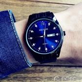 潮流手錶男學生鋼帶防水男士正韓簡約夜光皮帶時尚石英錶 多色小屋