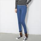 韓版 素色 單寧牛仔褲 丹寧牛仔長褲 內搭褲 顯瘦 貼腿褲 鬆緊腰 小腳鉛筆褲