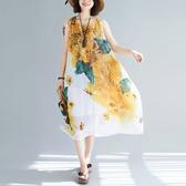 雪紡飄逸風背心洋裝 獨具衣格 J2997