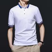 2021年新款男士短袖T恤夏季INS潮牌男裝翻領POLO衫夏裝半袖上衣服
