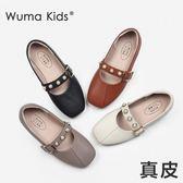 女童皮鞋公主鞋韓版兒童休閒單鞋【南風小舖】
