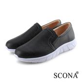 SCONA 蘇格南 全真皮 輕量舒適幾何休閒鞋 黑色 7321-1