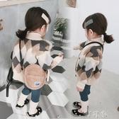 男童加厚毛衣女寶寶純棉針織開衫春秋嬰兒童洋氣針織外套 交換禮物