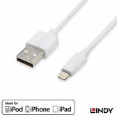 LINDY (31328) APPLE認證 LIGHTNING (8PIN) 轉 USB 傳輸線 3M