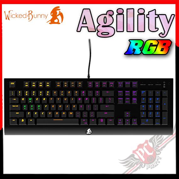 [ PC PARTY ] 送布丁鍵帽 Wicked Bunny Agility 光軸 RGB 機械式鍵盤