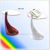 【水晶晶家具/傢俱首選】小巨蛋塑鋼造型圓玻小茶几~~雙色可選 SB8180-5