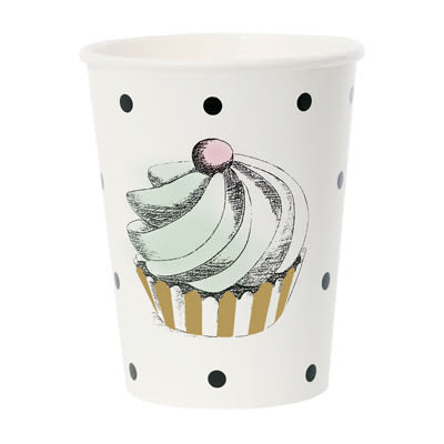 Miss Étoile 極緻黑白 黑點蛋糕紙杯