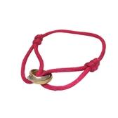 Cartier 卡地亞 桃紅色Trinity絲繩系列手環 Trinity Charity Bracelet 【BRAND OFF】