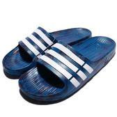 adidas 拖鞋 Duramo Slide 藍 白 運動拖 三條線 男鞋 女鞋 涼拖鞋 男女款【PUMP306】 S80967
