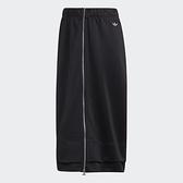 【現貨】Adidas ORIGINALS 女裝 裙子 半身裙 休閒 全開襟拉鍊 黑【運動世界】FU3837