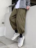 新款夏季寬鬆休閒褲潮流韓版褲子男薄款九分褲百搭闊腿束腳褲