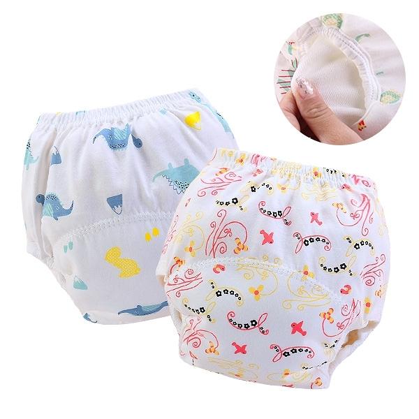 薄款學習褲 嬰兒尿布褲 吸水隔尿褲 拉拉褲-JoyBaby