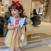 2021女童裝夏裝新款韓版白雪兒童短袖洋裝寶寶洋氣網紅公主裙子3